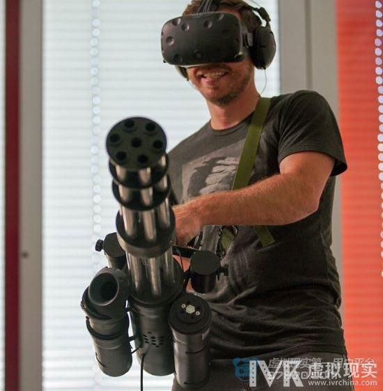 史上最酷VR外设曝光 《英雄萨姆VR》加特林型控制器