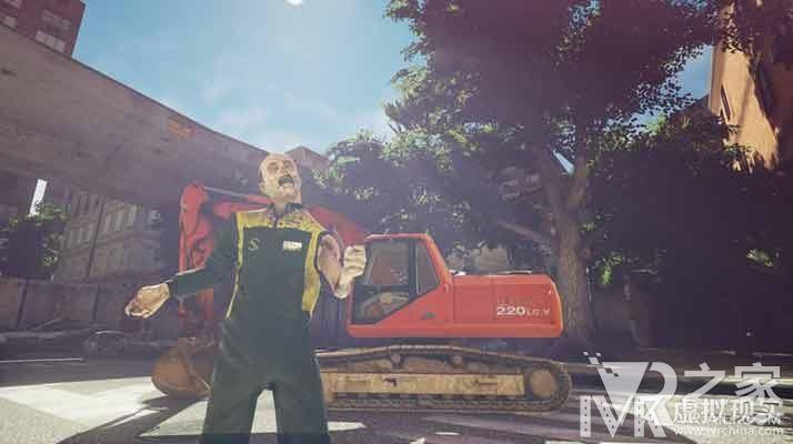 蓝翔开发VR游戏了!让我们开着挖掘机去打僵尸吧