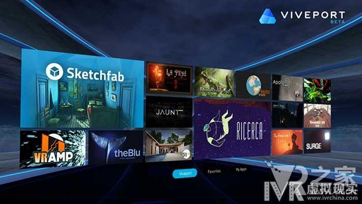 专注非游戏VR应用,HTC主推自家Viveport商店