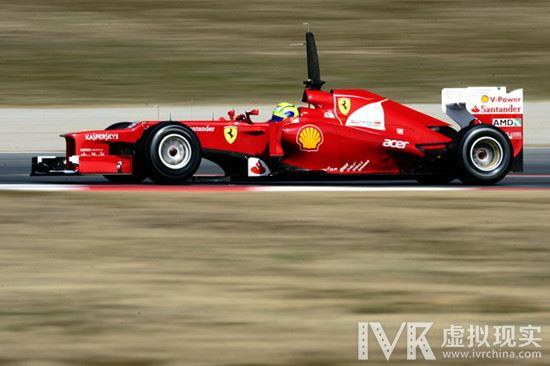 风驰电掣般的快感 法拉利F1赛车搭载全景摄像机